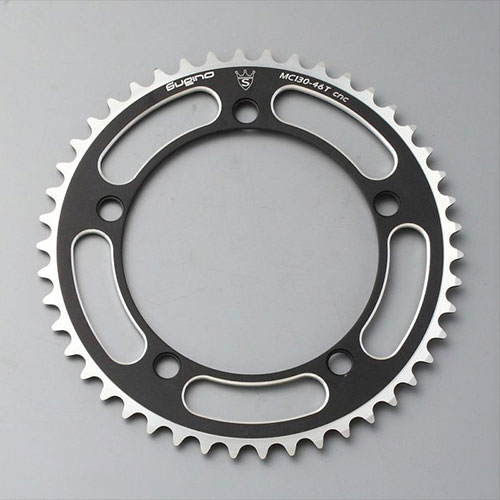 SUGINO 130J Chainring-Racing Track Bike Bicycle Black 49T