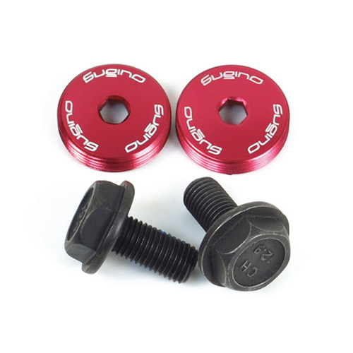 5 Chainring Bolts Coloured Aluminum Od Silver Steel Single Double Chainring